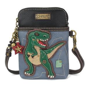 Chala CellPhone Crossbody Handbag - TRex - blue