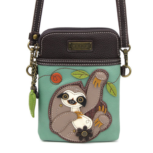 Chala CellPhone Xbody - Sloth - teal