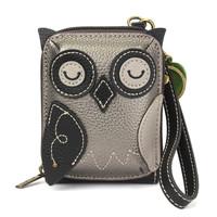 Credit Card Holder / Wallet Wristlet - Owl