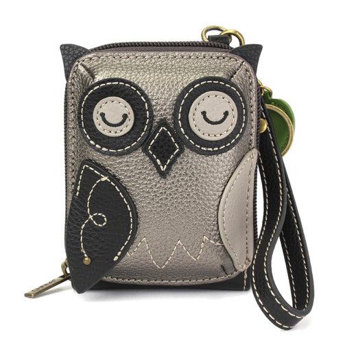 Chala Credit Card Holder / Wallet Wristlet - Owl