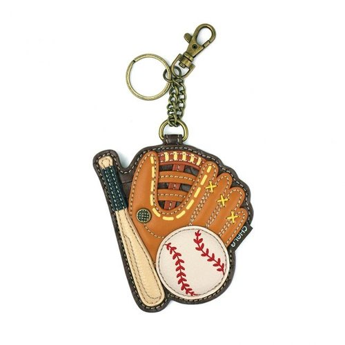 Chala Coin Purse / Key Fob - Baseball