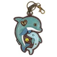 Coin Purse / Key Fob - Dolphin
