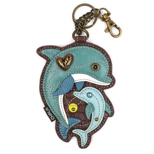 Chala Coin Purse / Key Fob - Dolphin
