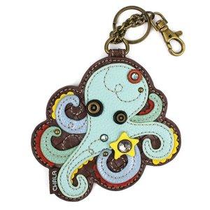 Chala Coin Purse / Key Fob - Octopus