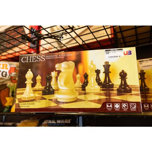 "UB 14"" Magnetic and Folding Chess Set"