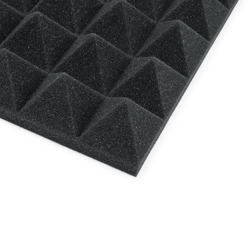 "Gator Frameworks Gator 12""x12""x2"" Acoustic Pyramid Panels 8 Pack - Charcoal"