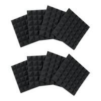 "Gator Frameworks 12""x12""x2"" Acoustic Pyramid Panels (8 Pack) - Charcoal"