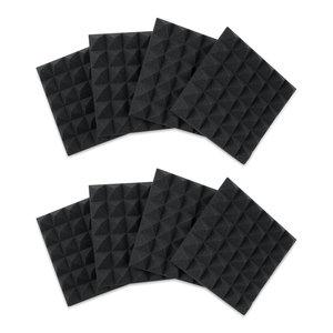 "Gator Frameworks Gator Frameworks 12""x12""x2"" Acoustic Pyramid Panels (8 Pack) - Charcoal"