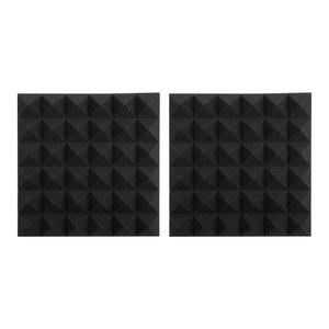 "Gator Frameworks Gator Framework 12""x12""x2"" Acoustic Pyramid Panels (2 Pack) - Charcoal"