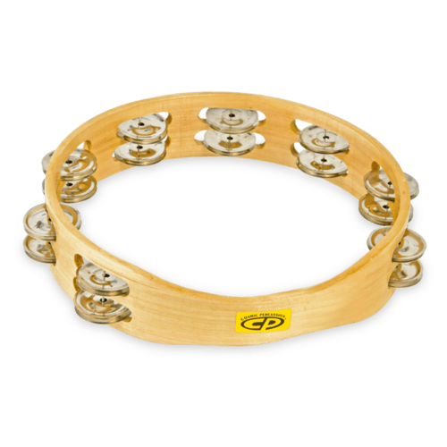 """CP CP 10"""" Double Row Tambourine Steel"""