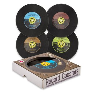 """""""45"""" Single Record Coasters (4 pack)"""