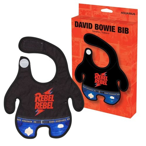 "David Bowie ""Rebel Rebel"" Baby Bib"