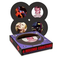David Bowie Record Coasters (4 pack)
