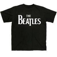 The Beatles Solid Logo Mens T-Shirt