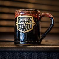 Music Freqs Handmade Mug (Black/Red)