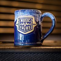 Music Freqs Handmade Mug (Blue)