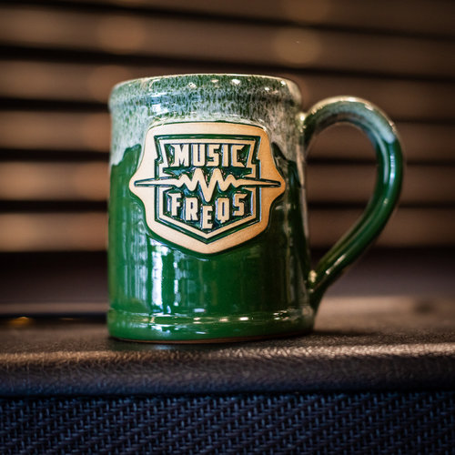 Music Freqs Handmade Mug (Green)