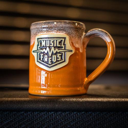 Music Freqs Handmade Mug (Orange)