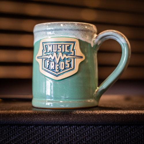 Music Freqs Handmade Mug (Teal)
