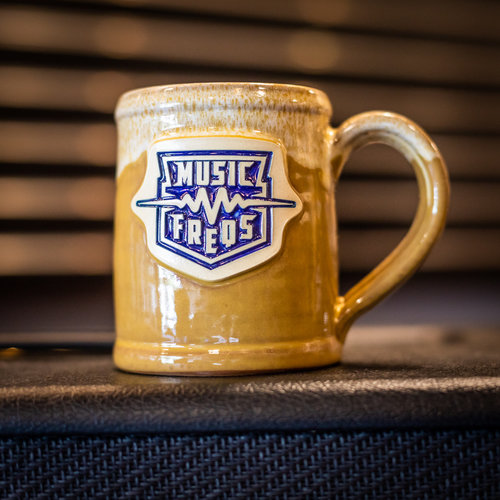 Music Freqs Handmade Mug (Yellow)