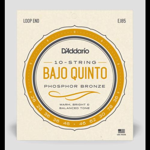 D'Addario Bajo Quinto Phosphor Bronze Strings (10-String)