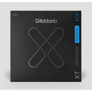 D'Addario XT 10-47 Phosphor Bronze 12-String Acoustic Guitar Strings