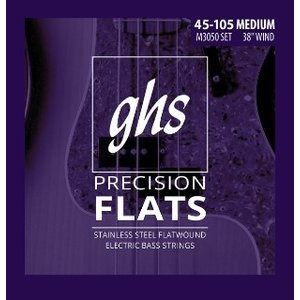 GHS 45-105 Stainless Steel Flat Wound Bass Strings