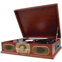 Retro Wooden Turntable (Cherry)