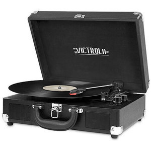 Victrola Vintage Portable Suitcase Turntable (Black)