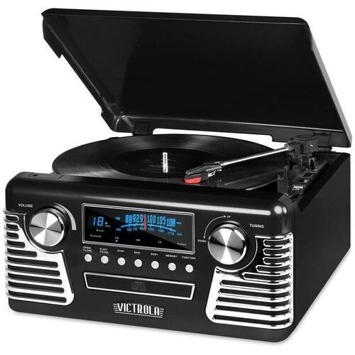 Victrola Retro Bluetooth 7 in 1 Music Center (Black)