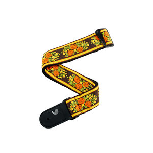 D'Addario Woven Guitar Strap, Peace & Love Floral Design
