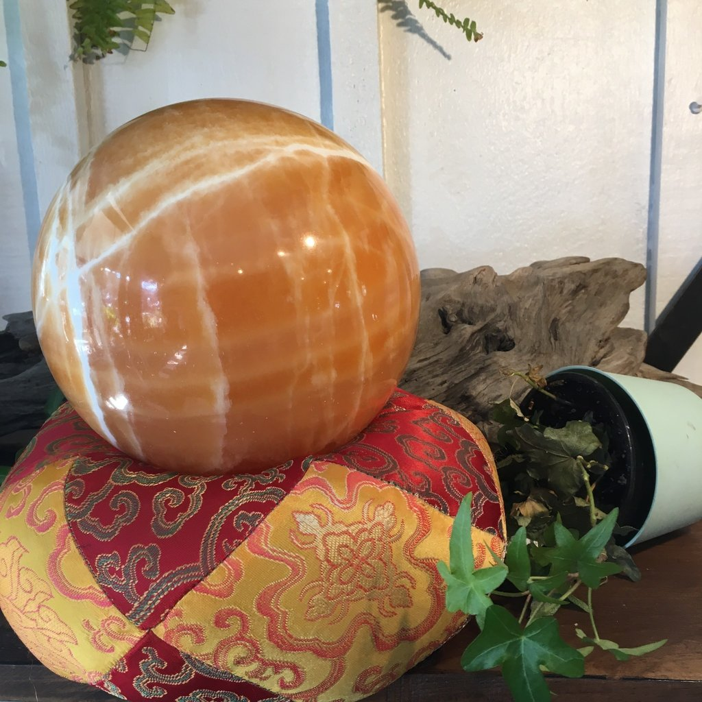 Orange Calcite Sphere