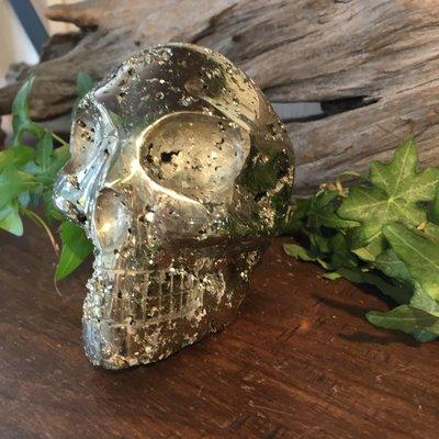 Pyrite Alien Skull