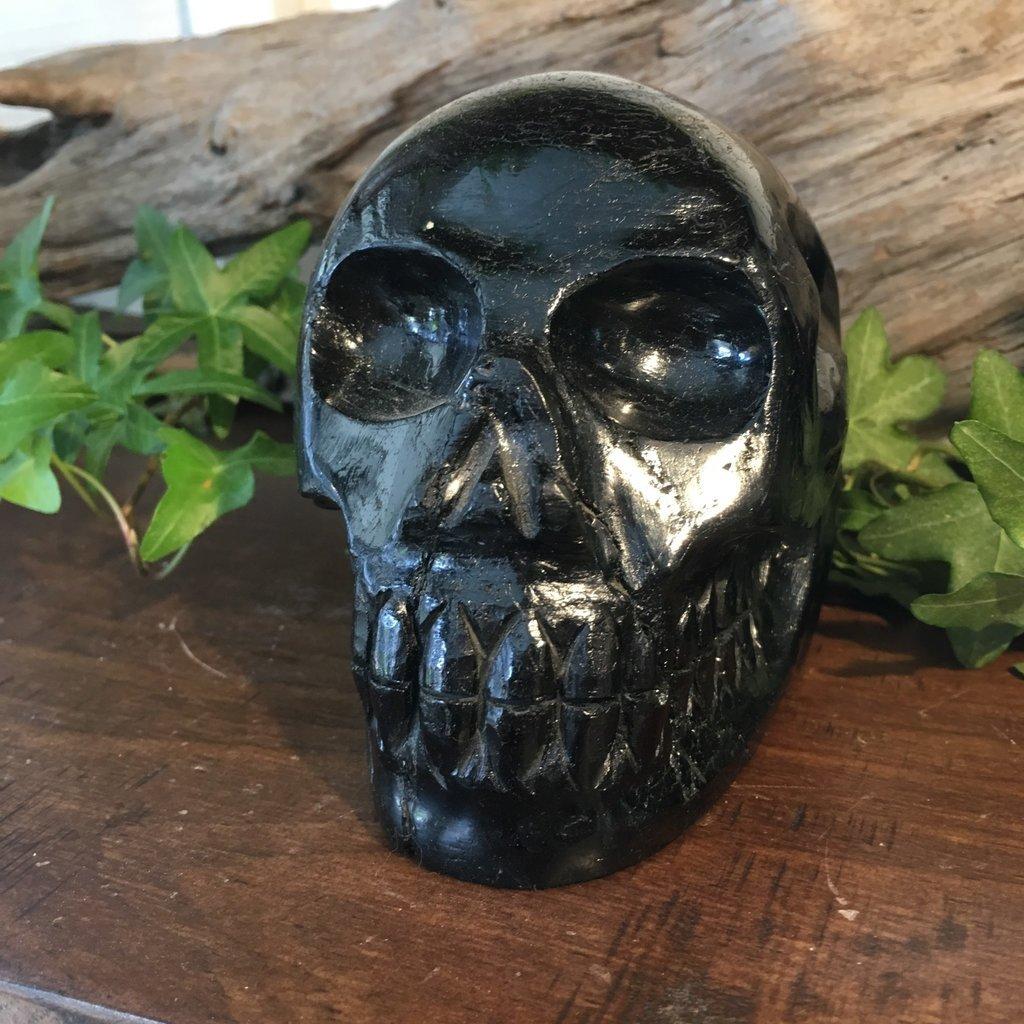 Black Tourmaline Skull