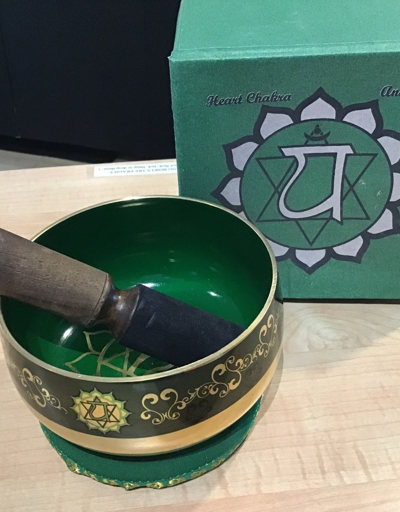 Heart Chakra Singing Bowl Box Set Large