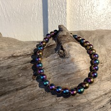 Rainbow Hematite Bracelet 6-7 mm