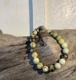 Yellow Turquoise Bracelet 8mm