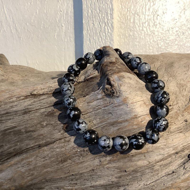 Snowflake Obsidian Bracelet 8mm