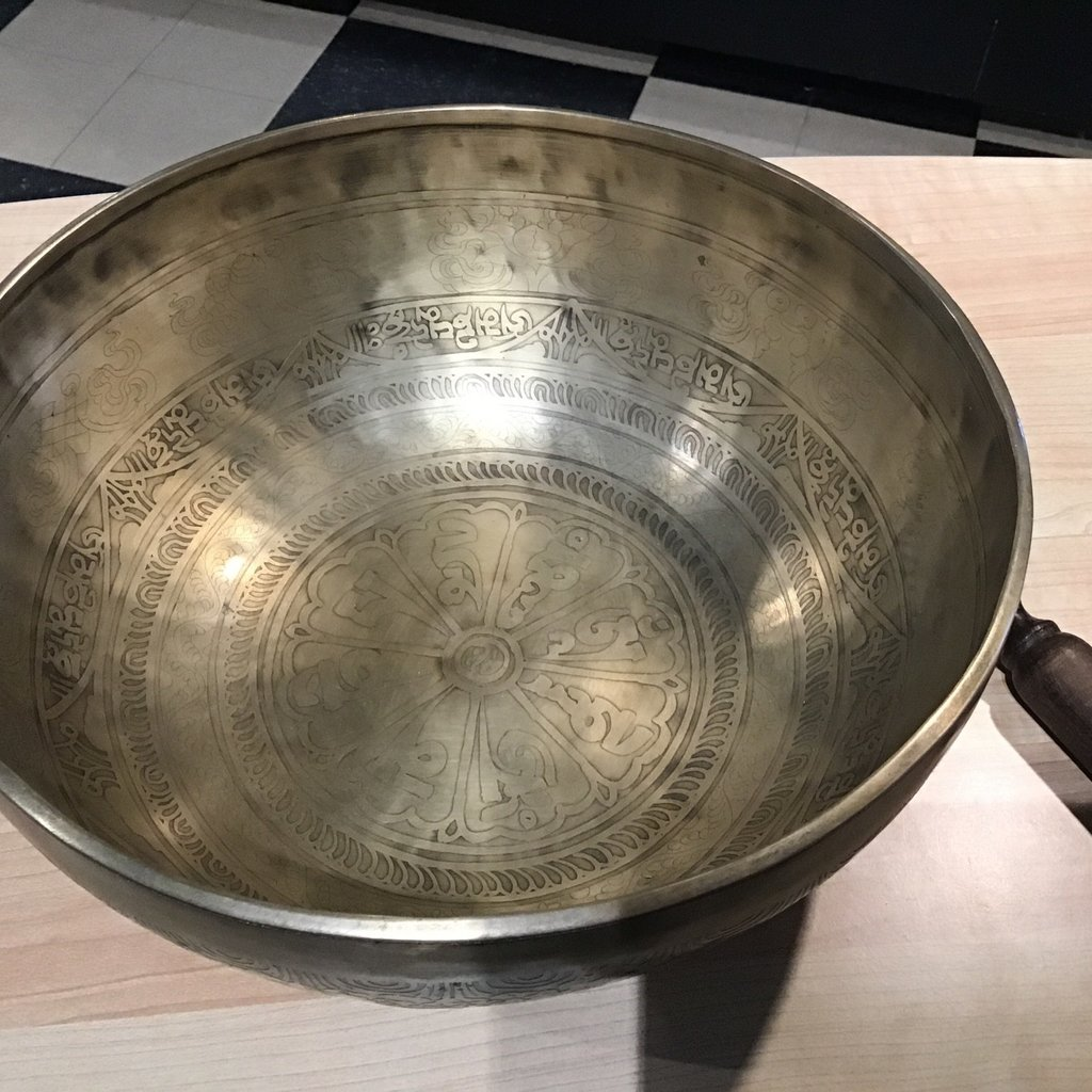 Hand Crafted Patterned Singing Bowl