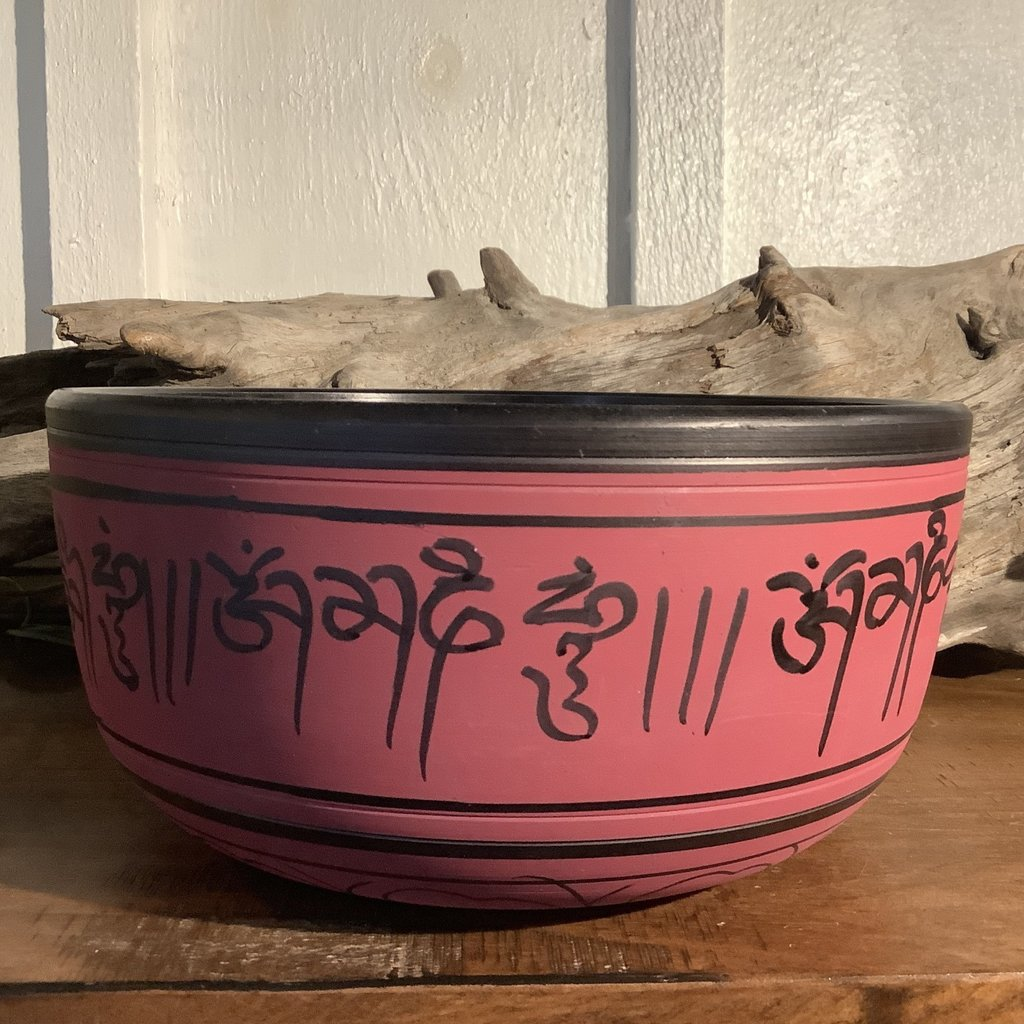 Large Hand Crafted Red Singing Bowl