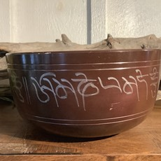Brown Hand Crafted Buddha Singing Bowl