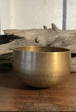 Brass Hammered and Lined Singing Bowl