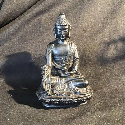 Buddha on Lotus Wooden Statue