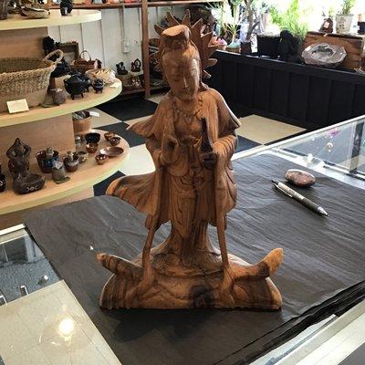 Kuan Yin Wooden Statue