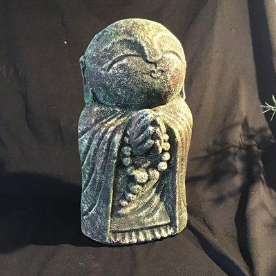 Monk Praying Green Statue