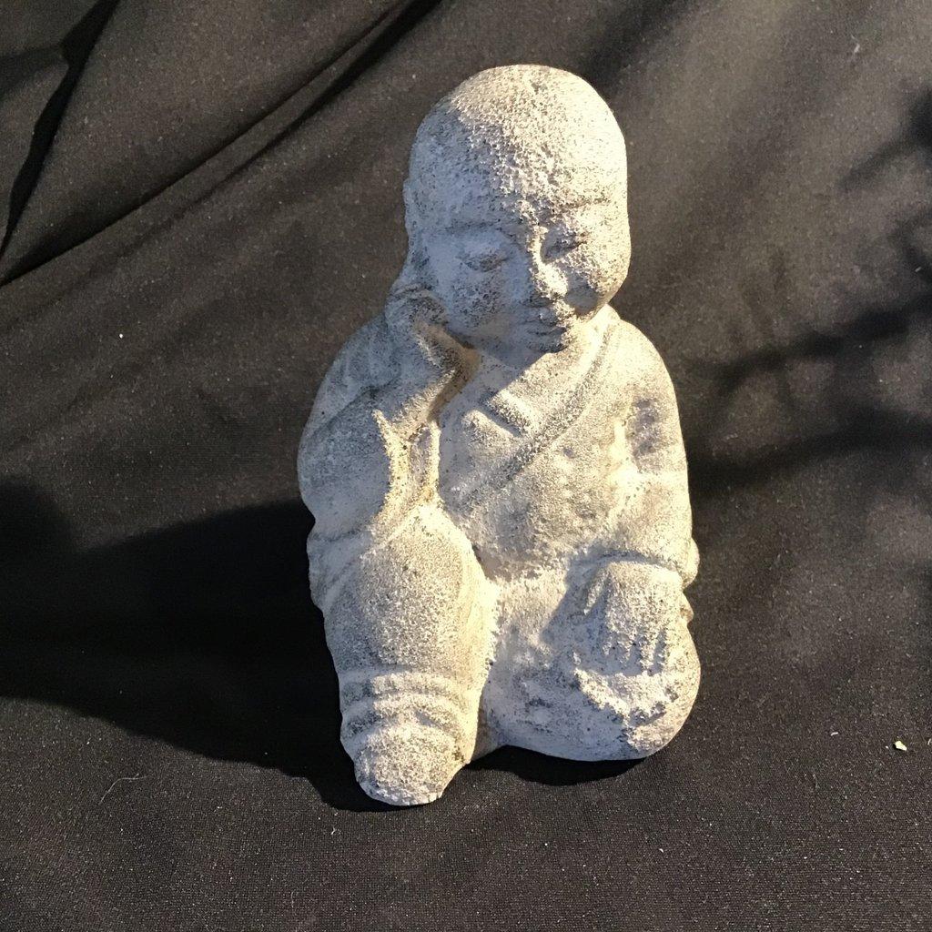Monk Thinking Statue