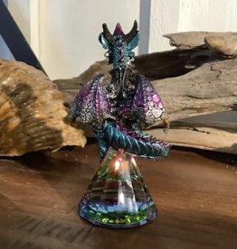 Dragon on Iridescent Crystal
