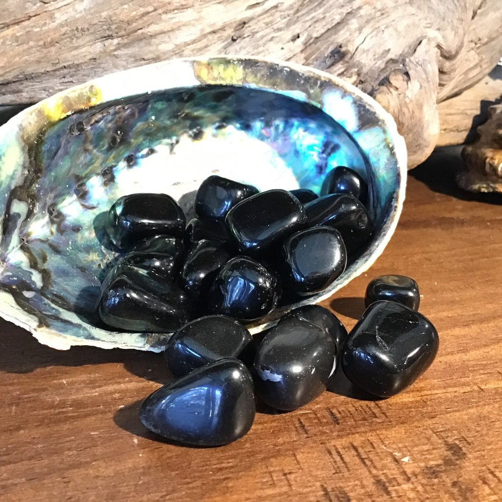 Silver Sheen Obsidian Tumbled