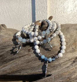 Howlite Bracelet With Charms
