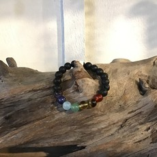 Lava Bracelet with Crystal Stones Small